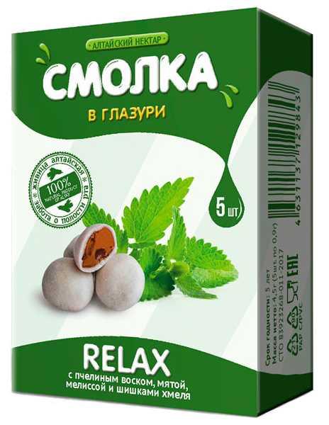Алтайский нектар смолка в глазури релакс 5 шт., фото №1