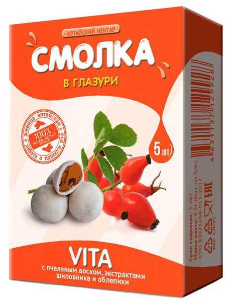 Алтайский нектар смолка в глазури вита 5 шт., фото №1