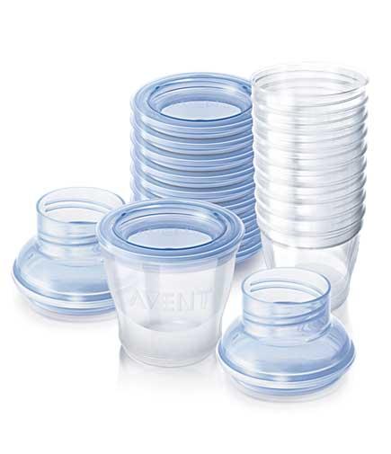 Авент набор контейнеров для хранения молока 84480 (scf612/10) 10 шт., фото №1