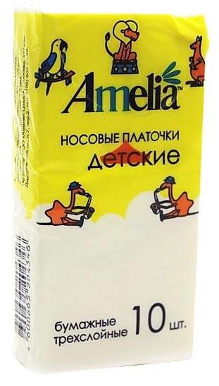 Амелия платки носовые детские 10 шт., фото №1