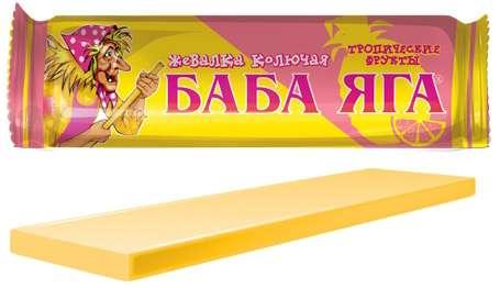 Баба яга конфеты жевательные апельсин 11г, фото №1
