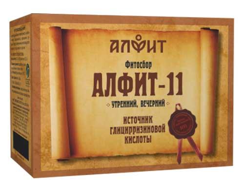 Алфит 11 легочный фитосбор утренний/вечерний 2г 60 шт., фото №1