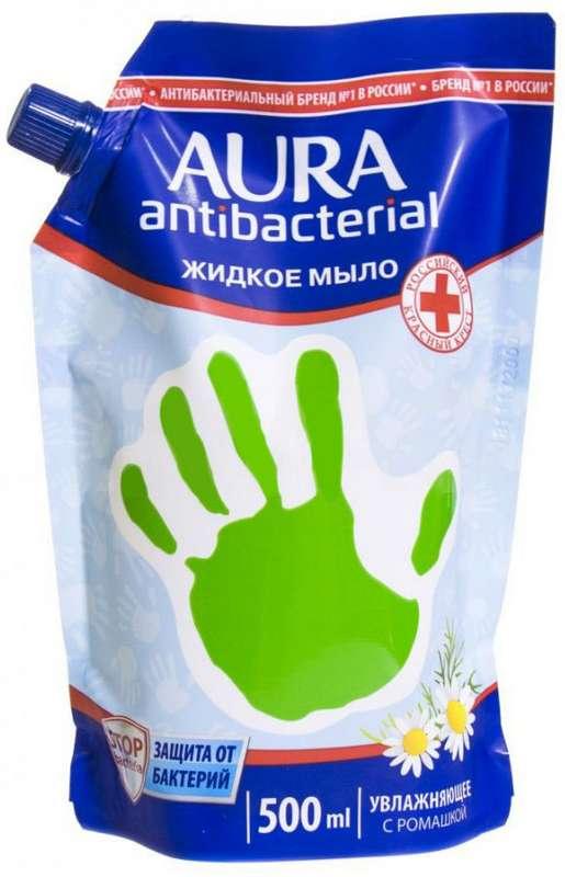 Аура мыло жидкое антибактериальное ромашка 500мл, фото №1