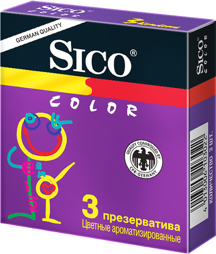 Сико презервативы колор 3 шт., фото №1