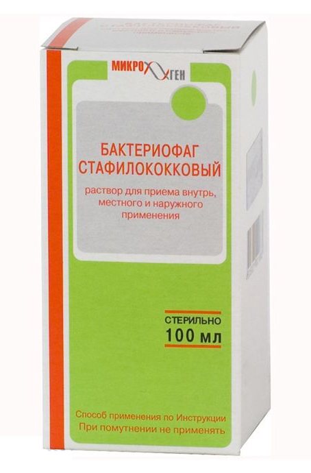 Бактериофаг стафилококковый 100мл раствор для приема внутрь, фото №1