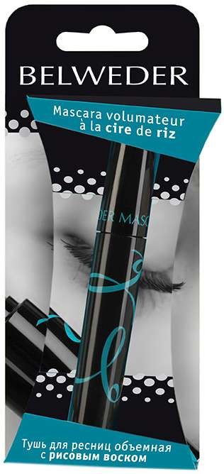 Бельведер тушь для ресниц объемная с рисовым воском 10мл, фото №1