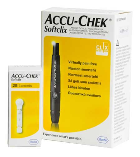 Акку-чек софткликс набор устройство для прокалывания пальца+ланцеты №25, фото №1