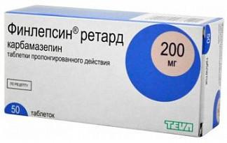 Финлепсин ретард 200мг 50 шт. таблетки