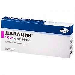 Далацин 100мг 3 шт. суппозитории вагинальные
