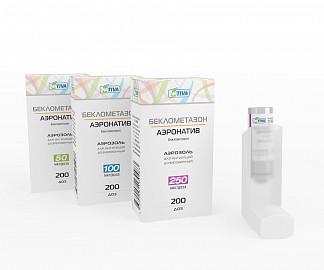 Беклометазон-аэронатив 100мкг/доза 200доз аэрозоль для ингаляций дозированный