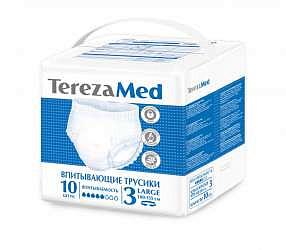 Терезамед подгузники-трусы для взрослых ладж размер 3 10 шт.
