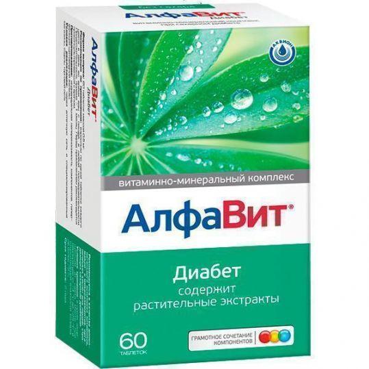 Алфавит диабет таблетки 60 шт., фото №1