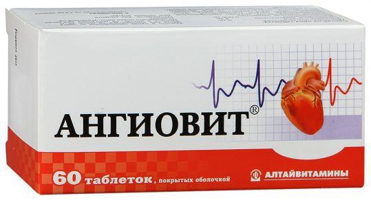Ангиовит 60 шт. таблетки покрытые оболочкой, фото №1