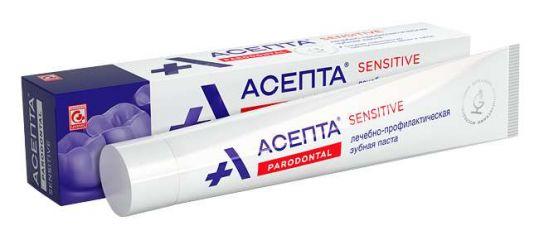 Асепта сенситив зубная паста 75мл, фото №1
