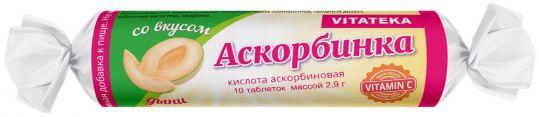 Аскорбинка с сахаром таблетки дыня 2,9г 10 шт. крутка, фото №1