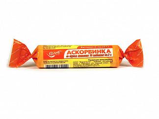 Аскорбинка таблетки жевательные апельсин 3г 10 шт. крутка