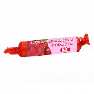 Аскорбиновая кислота с глюкозой гленвитол таблетки 25мг клубника 10 шт.