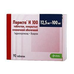 Лориста н100 90 шт. таблетки