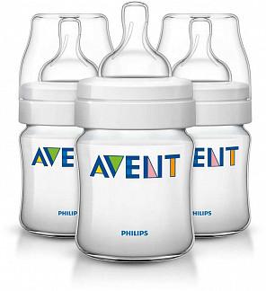 Авент классик бутылочка для кормления с соской для новорожденных 86890 (scf680/37) 125мл 3 шт.