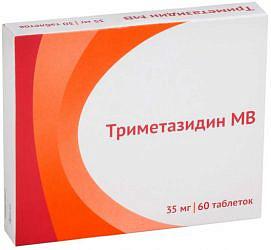 Триметазидин мв 35мг 60 шт. таблетки пролонгированного действия покрытые пленочной оболочкой