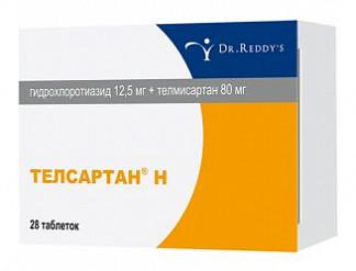 Телсартан н 12.5мг+80мг 28 шт. таблетки