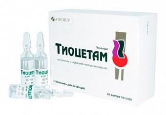 Тиоцетам 100мг+25мг/мл 5мл 10 шт. раствор для инъекций