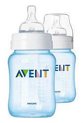 Авент классик бутылочка для кормления 81460 (scf685/27) голубая 260мл 2 шт.