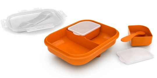 Авент контейнер с отделениями и ложечкой для детского питания 65700 (scf724/00), фото №1