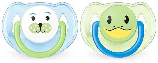 Авент пустышка силиконовая для мальчиков 6-18 месяцев (scf182/14) 2 шт., фото №1