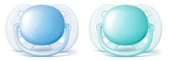 Авент ультрасофт пустышка силиконовая для мальчиков 0-6 месяцев (scf212/20) 2 шт., фото №1