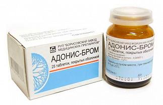 Адонис-бром 25 шт. таблетки покрытые оболочкой