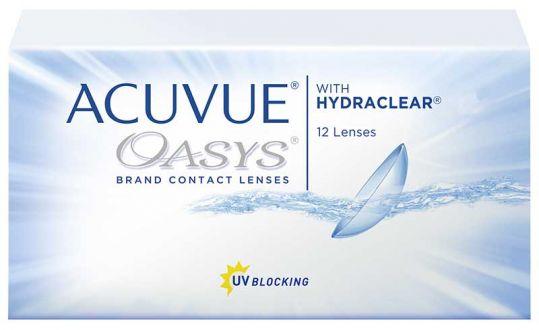 Акувью оазис линзы контактные r8.4 -2,50 12 шт., фото №1