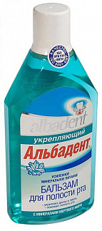 Альбадент бальзам-ополаскиватель для полости рта укрепляющий с минералами мертвого моря 400мл