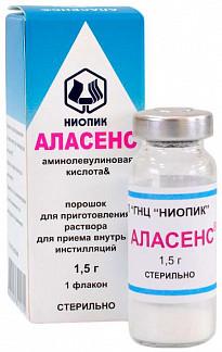 Аласенс 1,5г 1 шт. порошок для приготовления раствора для приема внутрь и инстилляций