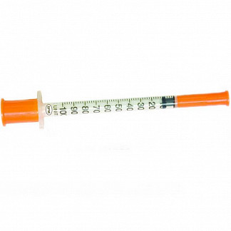 Шприц инсулиновый u100 1мл игла 29g (0,33х13мм) №100