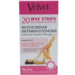 Вельвет полоски восковые для депиляции интенсивная витаминотерапия 20 шт.