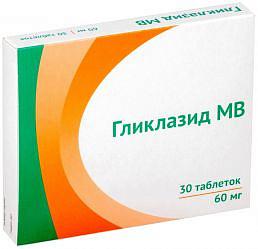 Гликлазид мв 30мг 60 шт. таблетки модифицированного высвобождения