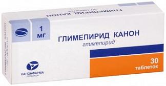 Глимепирид канон 1мг 30 шт. таблетки