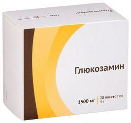 Глюкозамин 1500мг 20 шт. порошок для приготовления раствора для приема внутрь озон