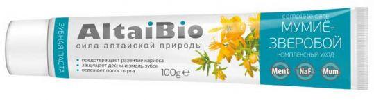 Алтайбио зубная паста комплексный уход мумие-зверобой 100г (75мл), фото №1