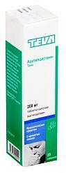 Ацетилцистеин-тева 200мг 20 шт. таблетки шипучие