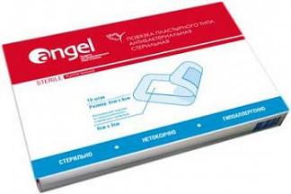 Ангел повязка пластырного типа стерильная бактерицидная 6х8 см 10 шт.