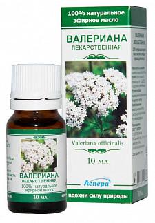 Аспера масло эфирное валериана 10мл