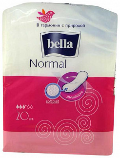 Белла нормал прокладки софтиплейт 20 шт.