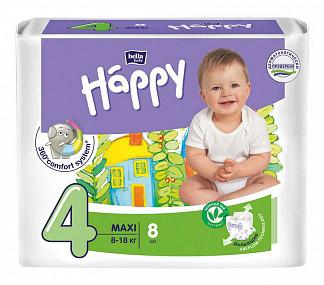 Белла беби хеппи подгузники макси 8-18кг 8 шт.