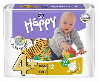 Белла беби хеппи подгузники макси плюс 9-20кг 12 шт.
