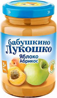 Бабушкино лукошко пюре яблоко/абрикос 5+ 200г