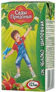 Сады придонья сок яблоко/шиповник 6+ 125мл
