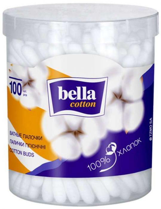 Белла коттон ватные палочки круглая коробка 100 шт., фото №1