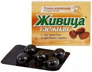 Живица таежная жевательные резинка (кофе) 5 шт.
